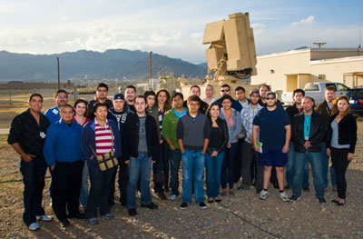 Electrical Engineering students visit Fort Bliss