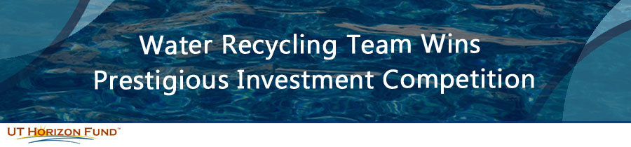 Water Recycling Team Wins Prestigious Investment Competition