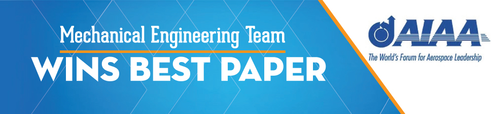 Mechanical Engineering Team Wins Best Paper