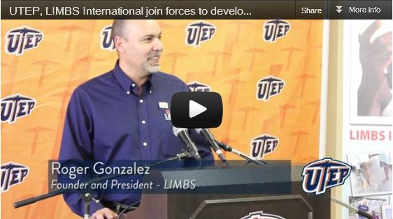 UTEP, LIMBS International join forces to develop ultra low-cost prosthetics