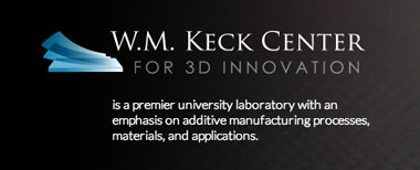 W.M. Keck Center for 3D Innovation is a premier university laboratory with an emphasis on additive manufacturing processes, materials, and applications.