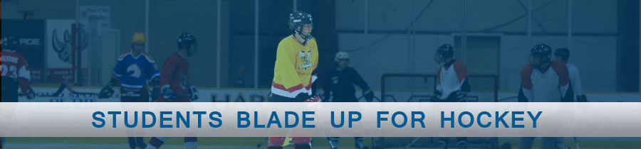 Students Blade Up for Hockey