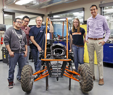 Members of UTEP's Mad Pete Motorsports teams are preparing to compete in the Baja SAE UTEP competition April 24-27. Photo by Laura Trejo UTEP News Service
