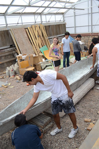 Engineering Students Ready for Concrete Canoe Competition