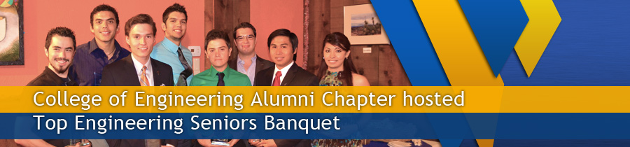 College of Engineering Alumni Chapter hosted Top Engineering Seniors Banquet