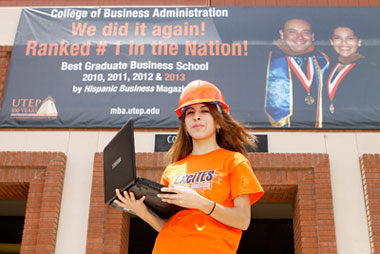 Amber Gomez, a junior computer science major, plans to apply for UTEP's new B.S.-M.B.A. joint degree program.