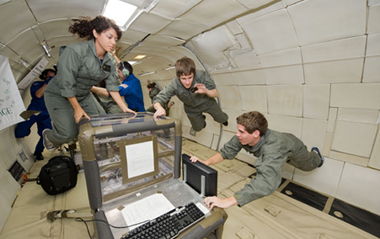 Students Aboard NASA's Reduced Gravity Aircraft