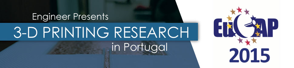 Engineer Presents 3-D Printing Research in Portugal