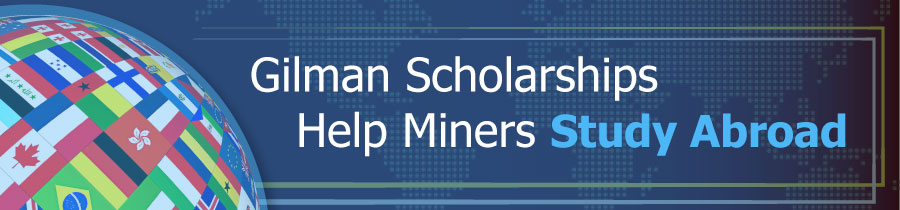 Gilman Scholarships Help Miners Study Abroad