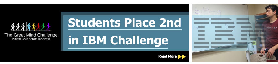 Students Place 2nd in IBM Challenge