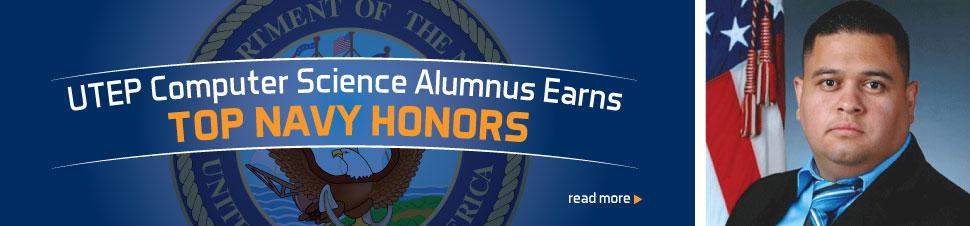 UTEP Computer Science Alumnus Earns Top Navy Honors