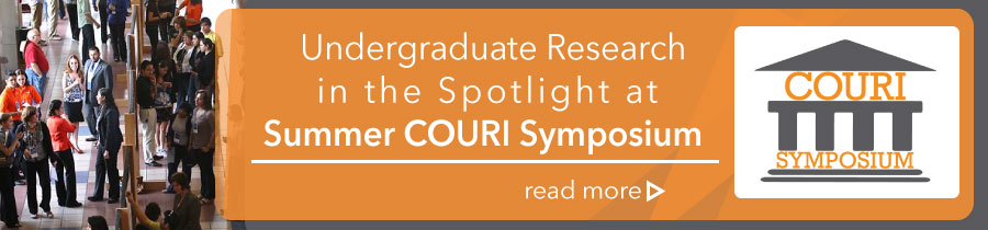 Undergraduate Research in the Spotlight at Summer COURI Symposium