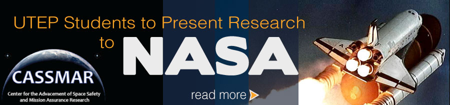UTEP Students to Present Research to NASA