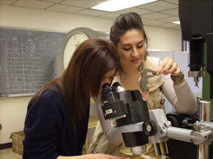From left, Maribel López and Sara Gaytan are among the hundreds of UTEP students who will get hands-on research experience this summer.